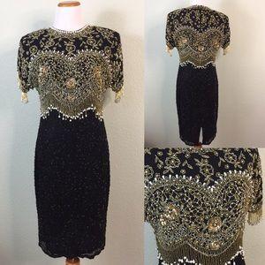 Vintage Oleg Cassini /Neiman Marcus Beaded Dress